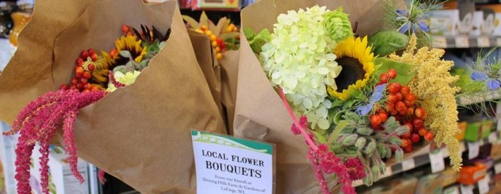 Local flowers on sale